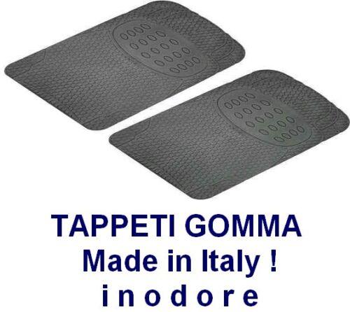 TAPPETINI IN GOMMA anteriori universali tappeti per auto MADE IN ITALY Coppia