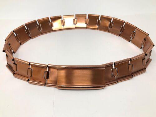 Vintage 1950s Copper Link Belt signed RENOIR small