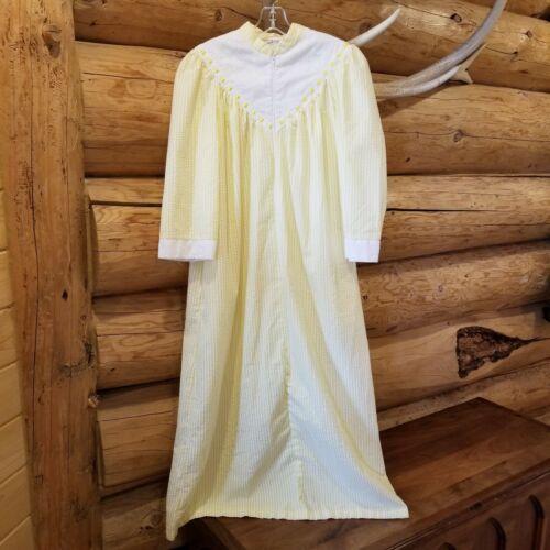 Vintage Saybury House Dress Robe Seersucker Nightg