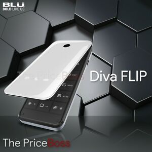 Blu DIVA Flip T390X Unlocked GSM Dual-SIM 2.4'' Flip Phone - White - New