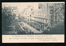 Belgium SUFFRAGE 1902 strike Funeral of 5 Demonstrators shot u/b PPC