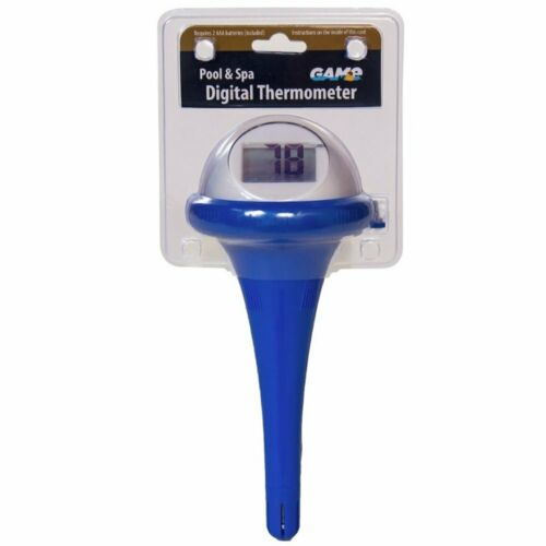 Game 14900-6PDQ-E-01 Floating Digital Pool //Spa Thermometer with LCD Screen Blue