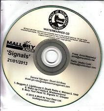 MALLORY KNOX Signals 2013 UK 11-track promo test CD