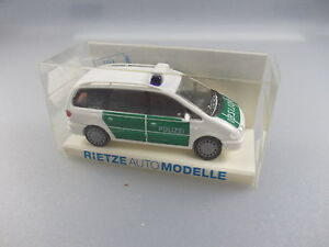 Rietze: Police-voiture Nº 50740 Ford Galaxy (gk6)-afficher Le Titre D'origine