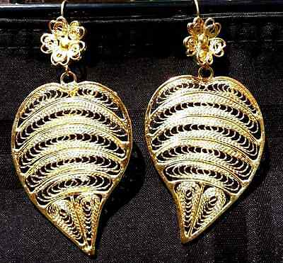 Mexican Earrings Filigree Handmade From Oaxaca Style#LG6634.Aretes de Filigrana.
