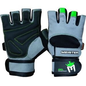 MEISTER WRIST WRAP WEIGHT LIFTING GLOVES w- GEL PADDING Workout Gym Crossfit NG MCyi4vMd-07143712-233188444