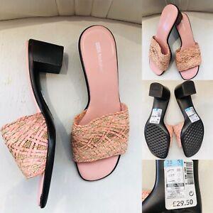 Women-039-s-MARKS-amp-SPENCER-Footglove-Pink-Mules-Slip-On-Shoes-Sandals-UK-5-EU38-30