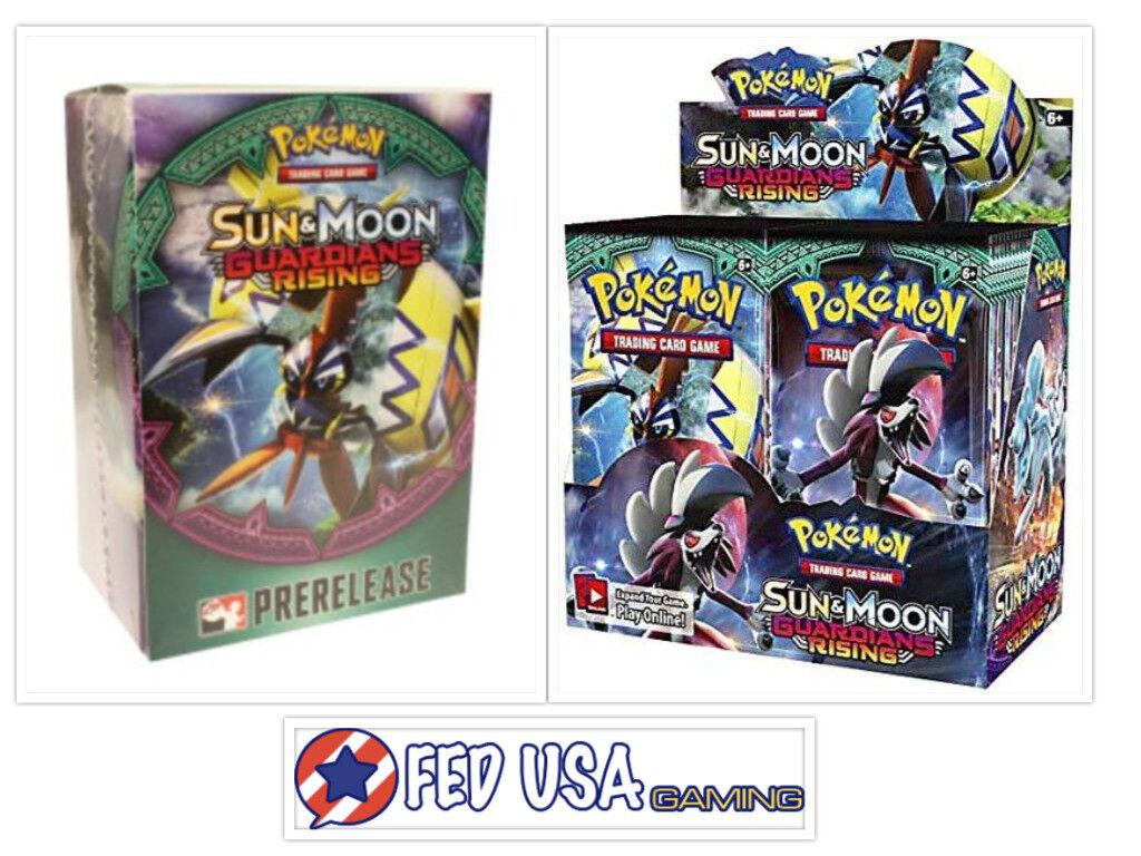 Sun & Moon Guardians Guardians Guardians Rising Booster Box & Prerelease Kit Pokemon Trading Cards 76d534