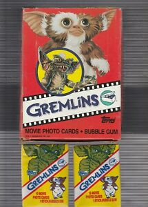 1984-Topps-Gremlins-Full-Box-36-Mint-Packs-Original-Stock-NO-Stickers-Variation