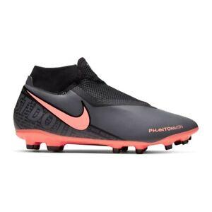 Dettagli su Scarpe da calcio uomo NIKE Phantom Vsn Academy DF FG Antracite e rosa AO3258 080