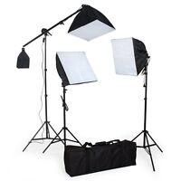 3 x135W Fotostudio Studioleuchte Set Softbox Studiolampe Stativ Galgenstativ de
