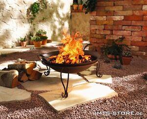 Feuerschale Metall Rostoptik Lagerfeuer Feuerkorb Feuerstelle Grill