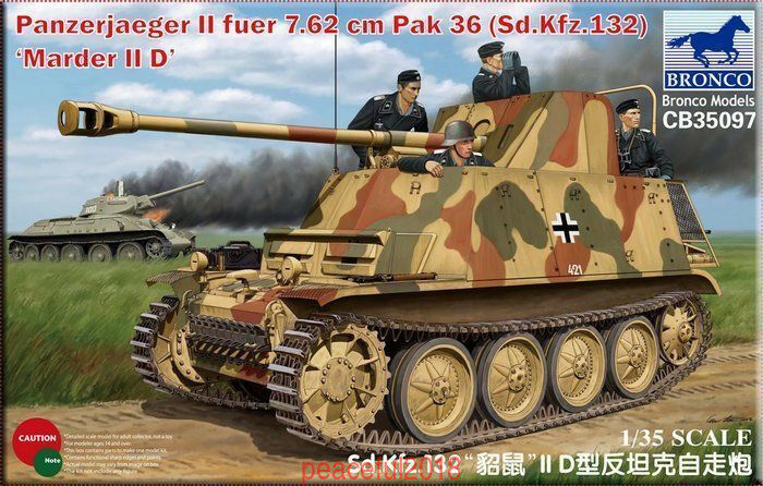 Bronco CB35097 1 35 Panzerjaeger II fuer 7.62cm Pak 36 Marder II D