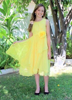 Amiable Yoryu Chiffon Ruched Bodice Flower Girl Dress Wedding Pageant Summer Easter 162f Wedding & Formal Occasion