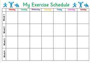 exercise schedule planner thevillas co