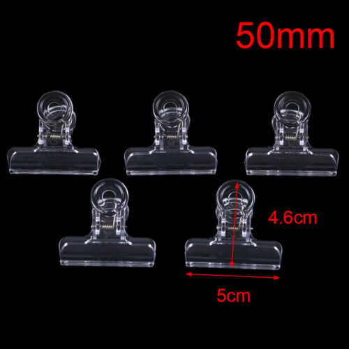 5PCS Clear Fly Tying Feather Clips Hackle Holding Tools Fly Fishing Accessori*sg