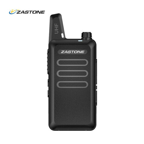 2pcs Zastone ZT-X6 Mini Portable Radio UHF 400-470MHZ Ham Walkie Talkie X6 Cable