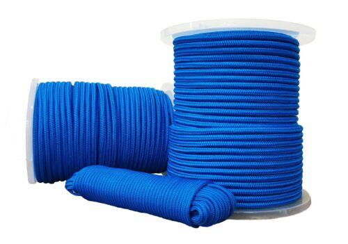 Polypropylen seil Polypropylenseil PP Tauwerk Geflochten Blau 4mm 20m