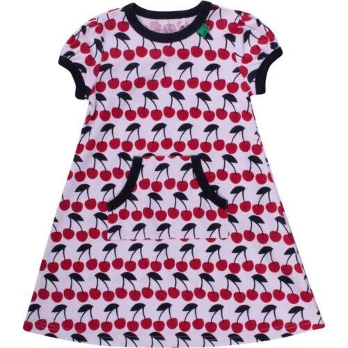 Green Cotton Baby Sommer Kleid Kleidchen Cherry Kirsche  80 86 92 neu