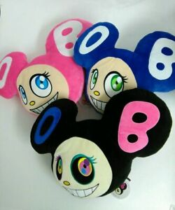 Takashi-Murakami-cushion-DOB-3set-pink-black-blue-Kaikai-Kiki