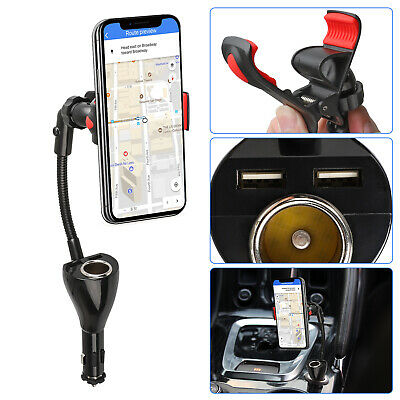 Dual USB Car Charger Holder Mount wCigarette Lighter for iPhone XSXS MaxXR | eBay