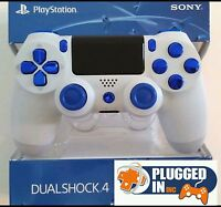 Sony Playstation 4 Ps4 White & Blue Chrome Controller..........brand