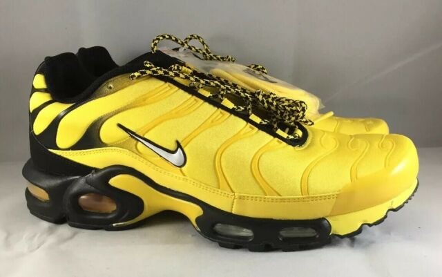 NIKE Air Max Plus TN Tuned Frequency Pack Tour Yellow Black White Men Size 10