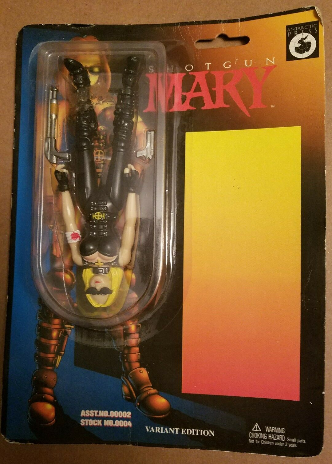 1997 Shotgun Mary Variant Edition Action Figure Upside Down & on Wrong Side RARE