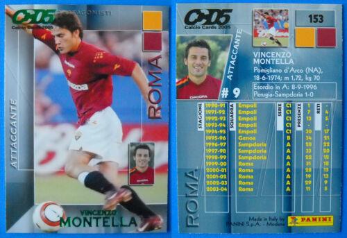 MONTELLA CALCIO CARDS 2005 PANINI N.153 ROMA