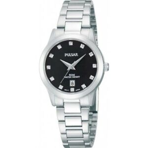 Pulsar-Black-Diamente-Dial-Stainless-Steel-Strap-Ladies-039-Watch-PH7277X1-130