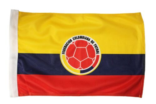 """COLOMBIA Country /& Federacion. 12/""""X18/"""" Inch CAR STICK FLAG BANNER Without Pole"""