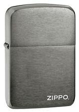 Zippo Windproof  Black Ice Replica 1941 Lighter With Logo, 24485, New In Box