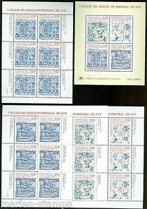 PORTUGAL TITLES SOUVENIR SHEETS SCOTT# 1563a/1556b MINT NH