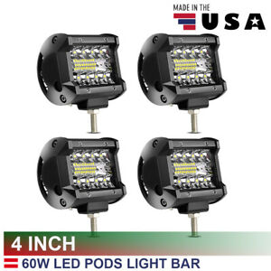 4pcs-4Inch-12V24V-Led-Light-Bar-Off-Road-Lights-Pods-Spot-Flood-Combo-Triple-yl6
