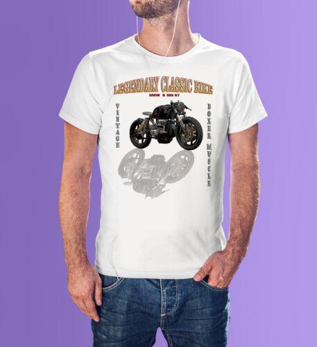 Motorrad Legendare Boxer Motor Vintage BMW Motorcycle Schwarz Weiss T Shirt