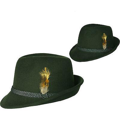 TRACHTENHUT für Damen Damenhut mit Feder Hut Trachten grün Oktoberfest
