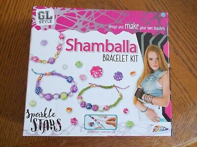 GL Style Make Your Own Shamballa Bead Bracelet Set Childrens Jewellery Craft Kit