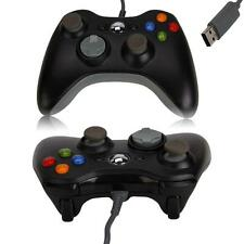 Wired USB Game Controller Gamepad for Microsoft Xbox 360 Slim PC Windows Black