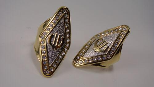 """Anillo de dedos /""""Gold plated-doradas/"""" rodio plated € euro-tamaño 18-23mm"""