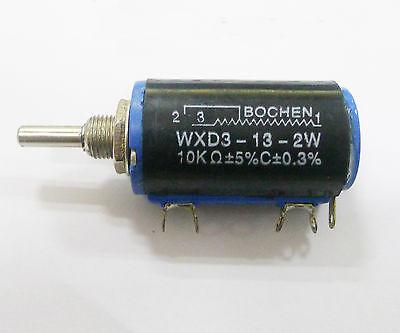 2pcs NEW WXD3-13-2W 10K ohm Rotary Multiturn Wirewound Potentiometer  Good