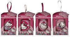 Set of 4 Hello Kitty Decoupage Baubles Christmas Tree Ornaments   22491