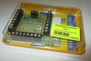 Modellbahn-Distributeur-Avec-26-Pince-Et-Status-LED-S-gt-Neuf-Emballage