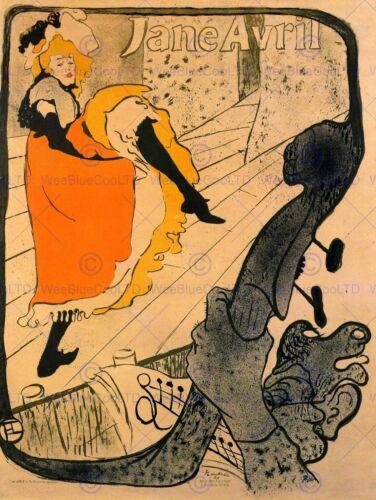 TOULOUSE LAUTREC JANE AVRIL OLD MASTER ART PAINTING PRINT POSTER 1288OM