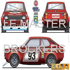 FIAT 128/S COUPE - Poster auto/mobile de Rallye voiture - Scuderia Antar