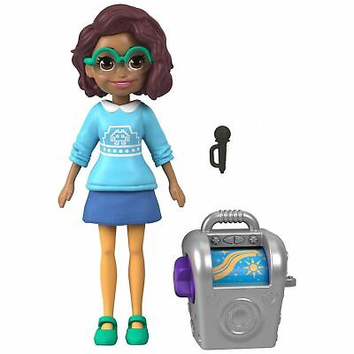 "Mattel Polly Pocket Shani Blue Dress 4/"" Doll NIP Figure"