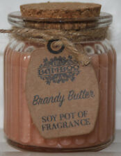 Soy Pentola Candele -Brandy Burro - In carina Jar con sughero Top - Natale smell