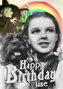 personalised wizard of oz birthday card  ebay, Birthday card