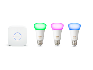 PHILIPS Hue E27 White and Color Ambiance Starter Kit inkl. Bridge