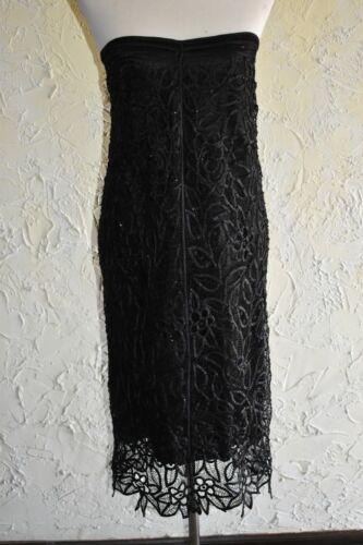 SILKEN POETRY Black Silk Skirt Hand Crocheted With