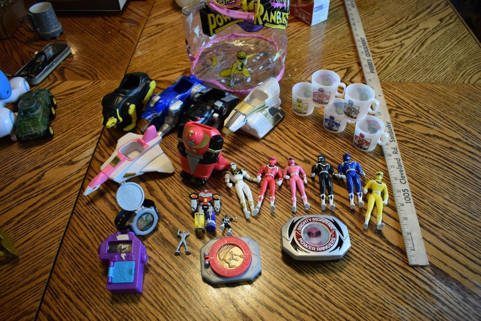 Vintage Power Rangers Lot of Figures Zords and Misc  A great lot